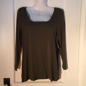 NWT Old Navy Long Sleeve Olive Green Top